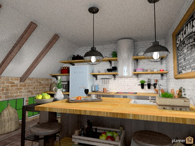 Industrial Kitchen 62528 by Mila Mar image