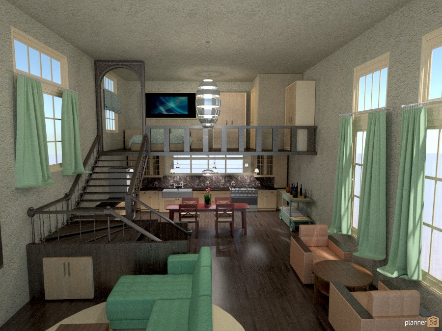 loft/tall windows/staircase 936500 by Joy Suiter image
