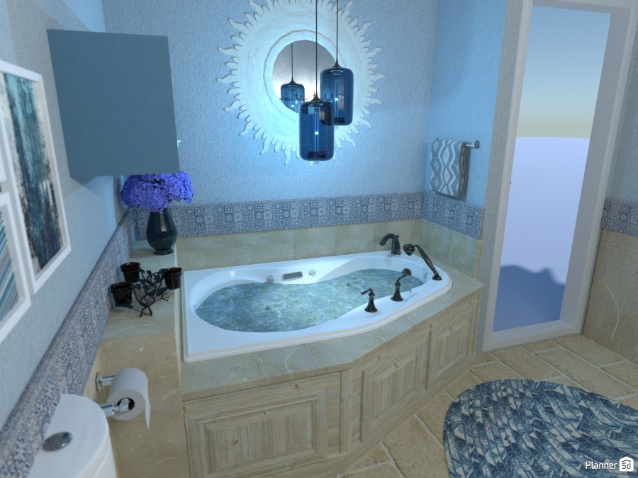 Blue bathroom #2 3333341 by Micaela Maccaferri image