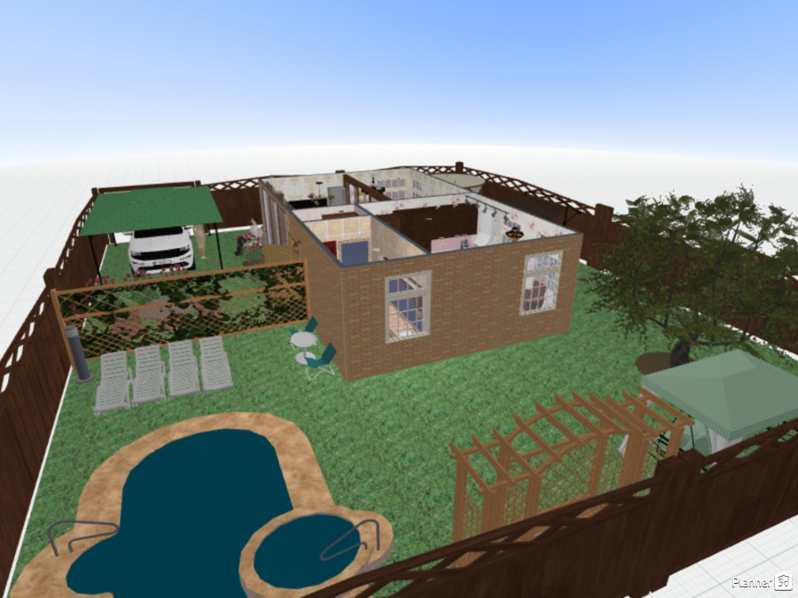 Небольшой загородный дом с просторным двориком 70608 by Ирина Михайловна image