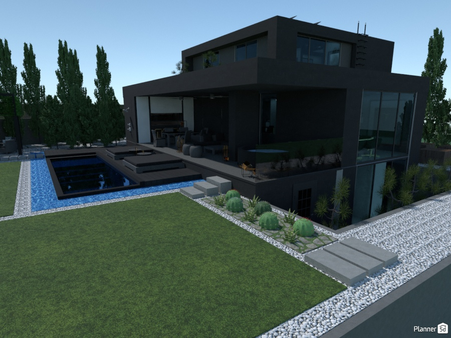 Black concrete house II 76255 by Iván Lorenzo image