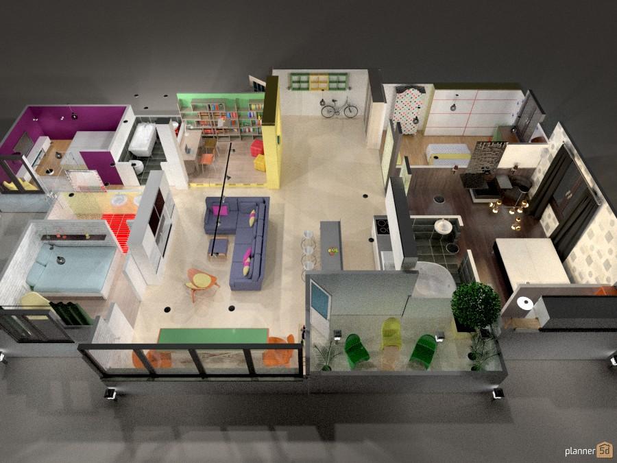 Family apartment layout 433444 by Katerina Sokorenko image