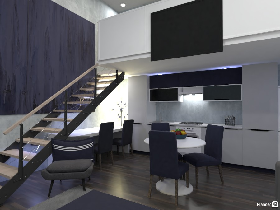 living room, kitchen and office design. 82869 by Owen image