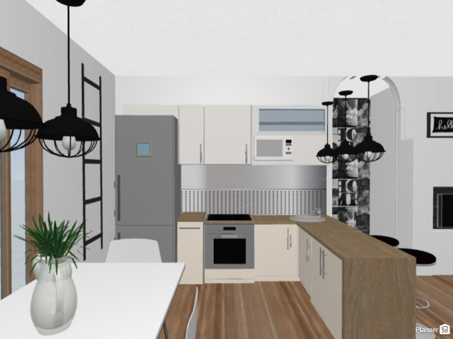 Ágota nappali-konyha-étkező egyben 68756 by Dőry Ilona image