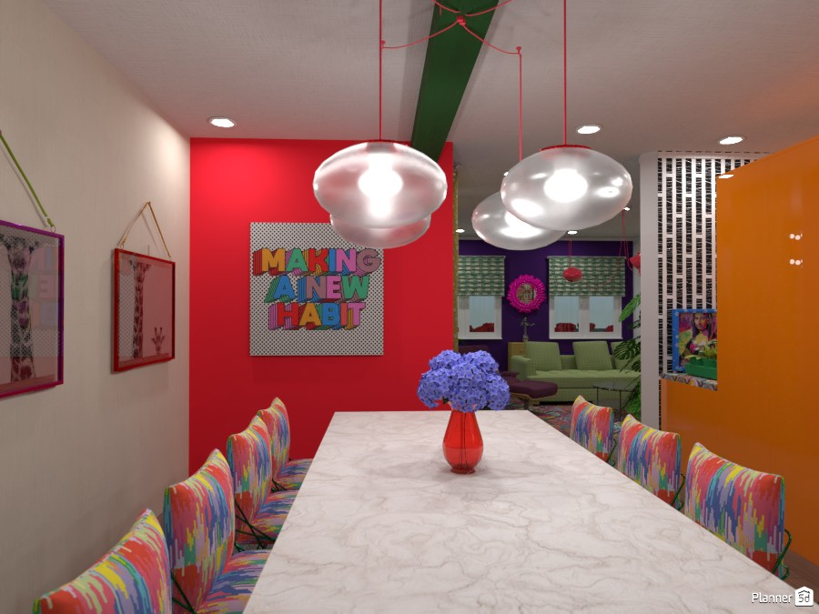 Pop Color Dining Room 3445081 by Aderia Septiani image