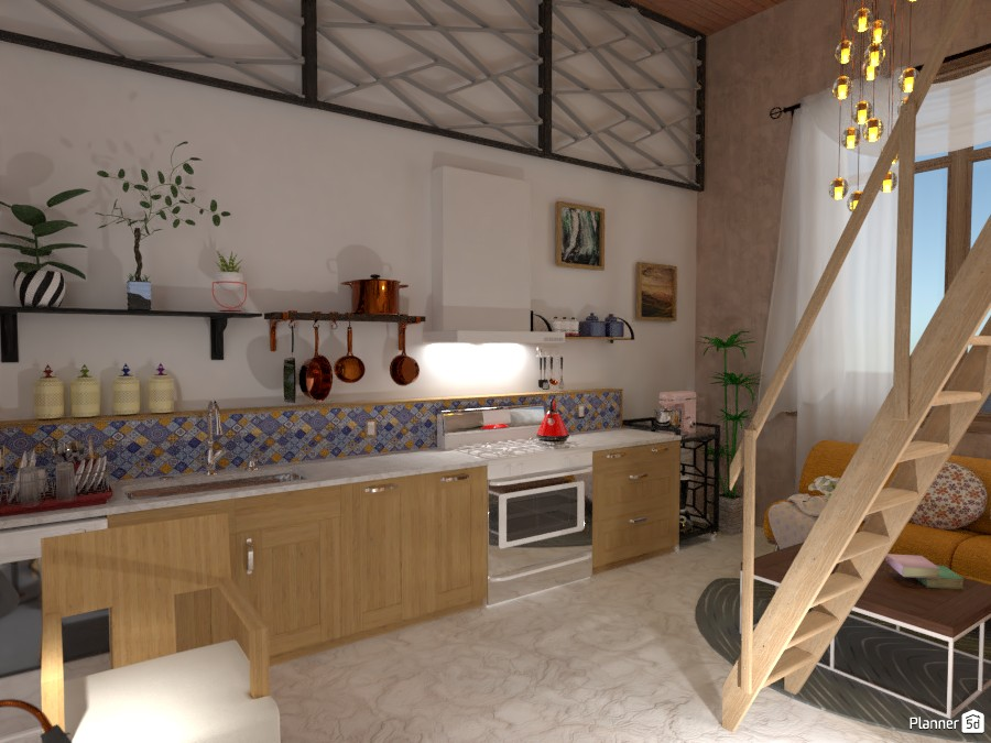 Small apartment design (high ceiling) 5019802 by Born to be Wild image