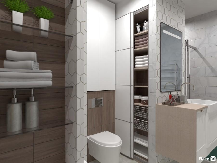 Встроенное хранение в ванной комнате 3435955 by Ksenia image