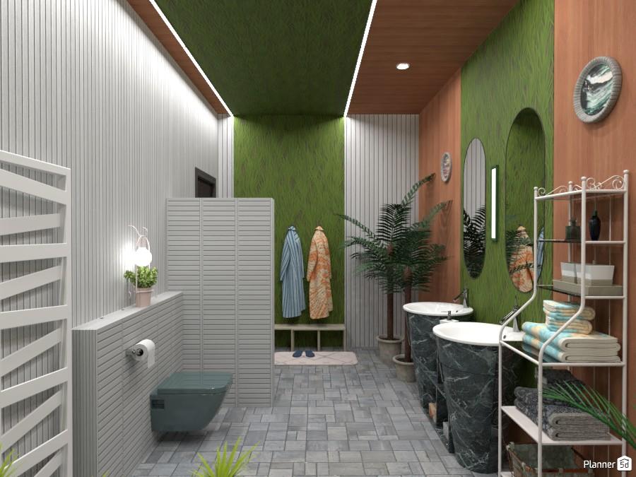 Ванная с натуральной отделкой 4608019 by Ольга image