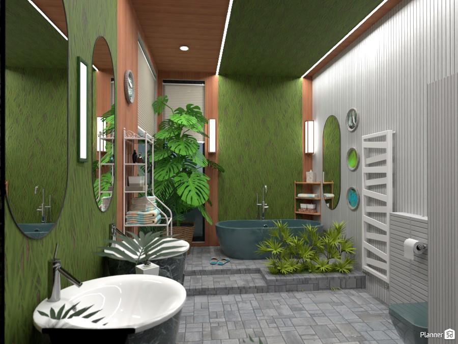Ванная с натуральной отделкой 4610256 by Ольга image