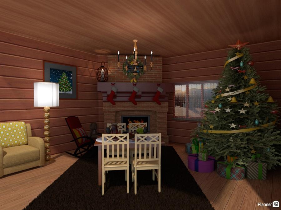 Небольшая новогодняя комнатка 67442 by Milena image