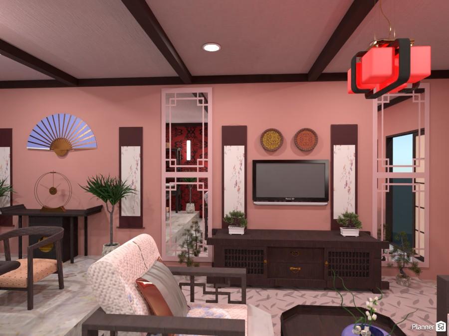Гостиная-столовая в китайском стиле 4006307 by Ольга image