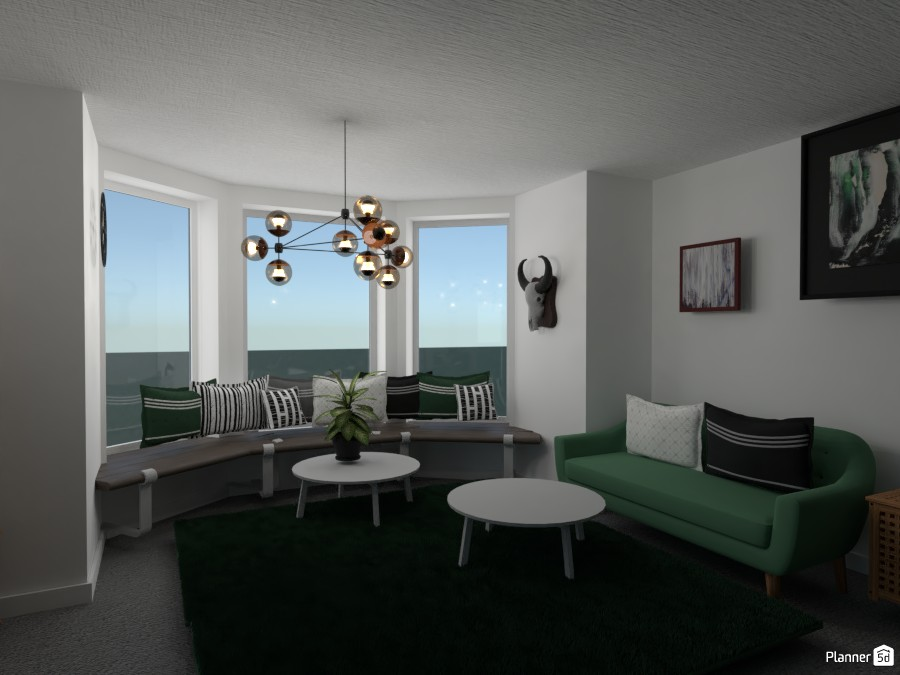 Green and wood living room 4457910 by Anonymous:):) image