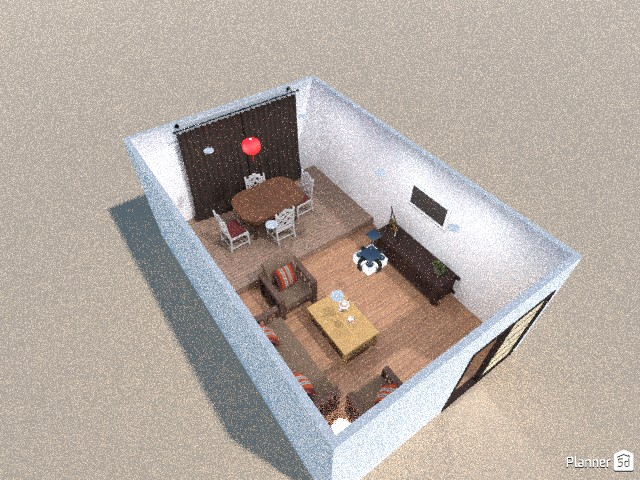 Living room and dining room 84892 by vehu image