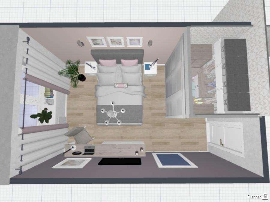 Спальня с гардеробной 74377 by Elena Strenova image