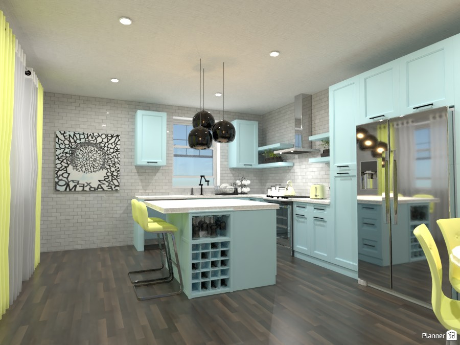 Kitchen and Dining Room!  ( THE LIGHTS ARE NOT SUPPOSED TO BE BLACK) 4486855 by Doggy image