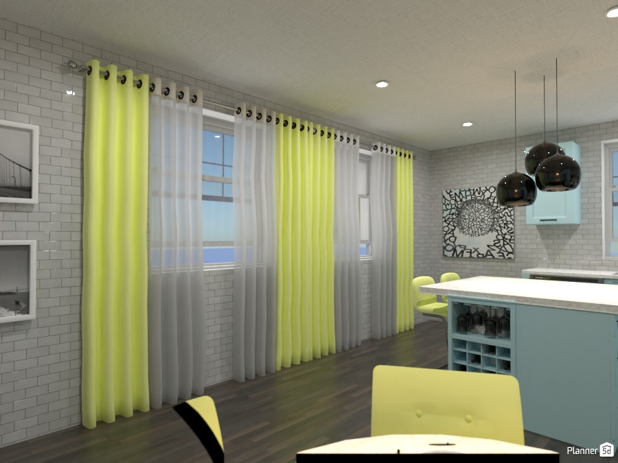 Kitchen and Dining Room! ( THE LIGHTS ARE NOT SUPPOSED TO BE BLACK) 4486857 by Doggy image