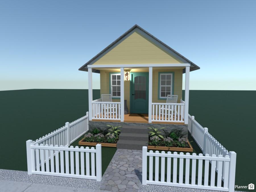 yellow Florida bungalow 4395203 by Sadie image