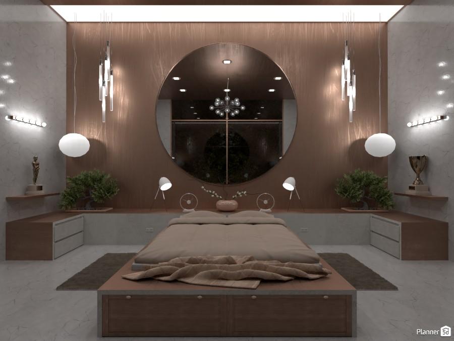 Luxurious bedroom. 4470737 by LØU DERØИNE image