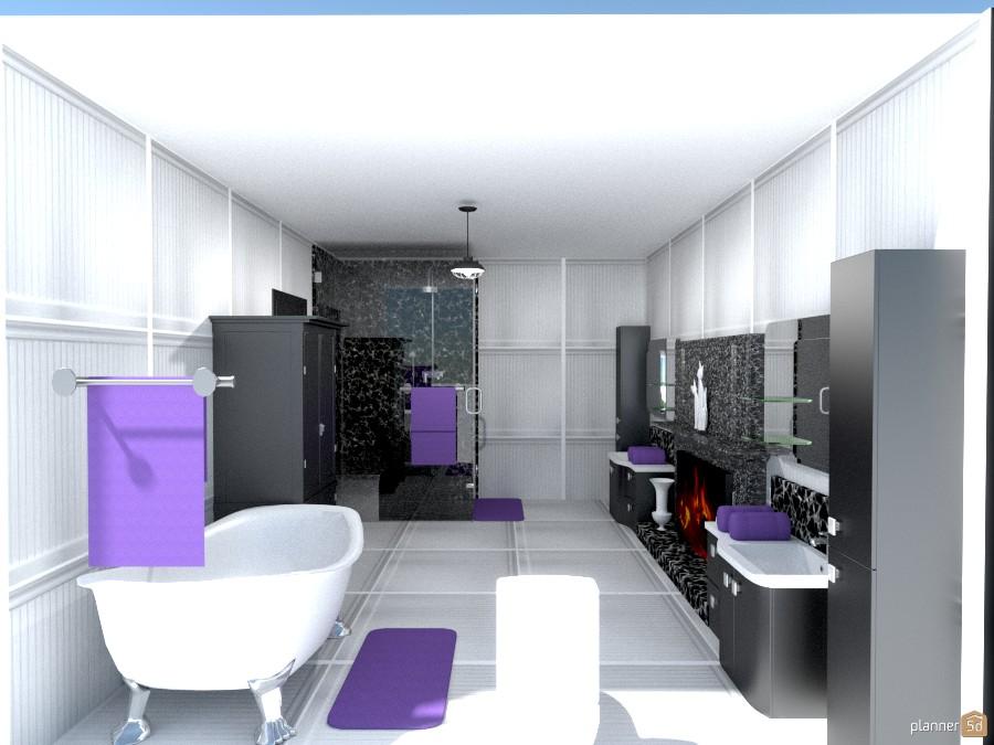 black,gray n purple bathroom 1222859 by Joy Suiter image