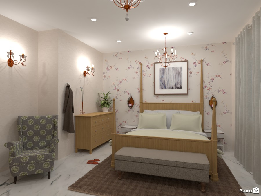 Classic bedroom in soothing color tone 4461244 by Born to be Wild image