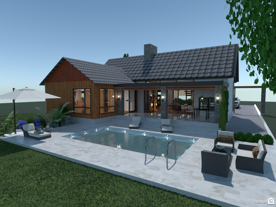 Cozy House: Back with Pool 2999539 by Moonface image
