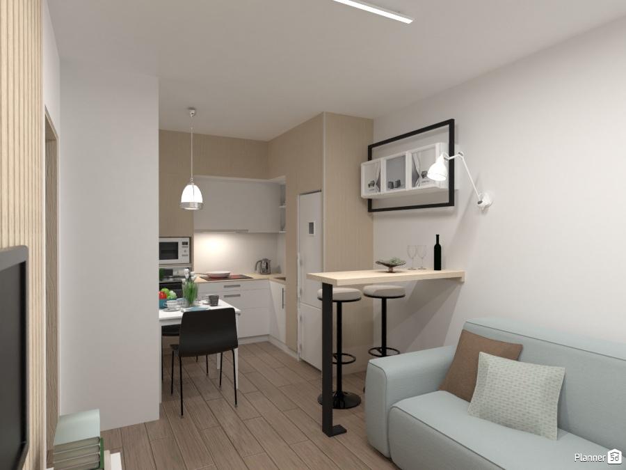 Дизайн кухни студии в скандинавском стиле 2085041 by Татьяна Максимова image