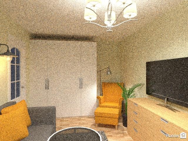 гостинная-кабинет в трехкомнатной квартире 72769 by Полина image