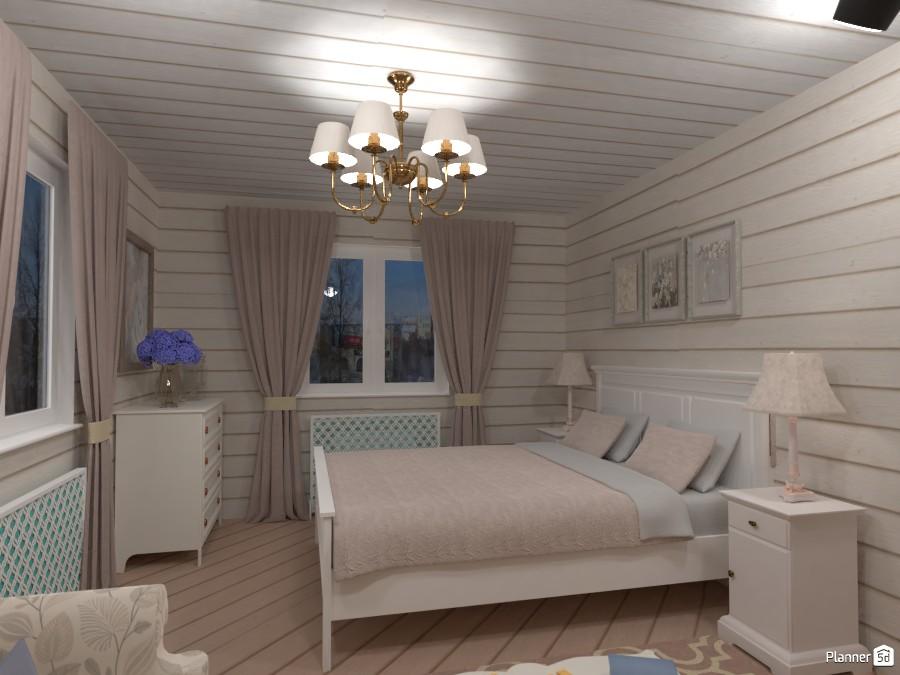 Спальня в деревянном доме 3026033 by Elena Strenova image
