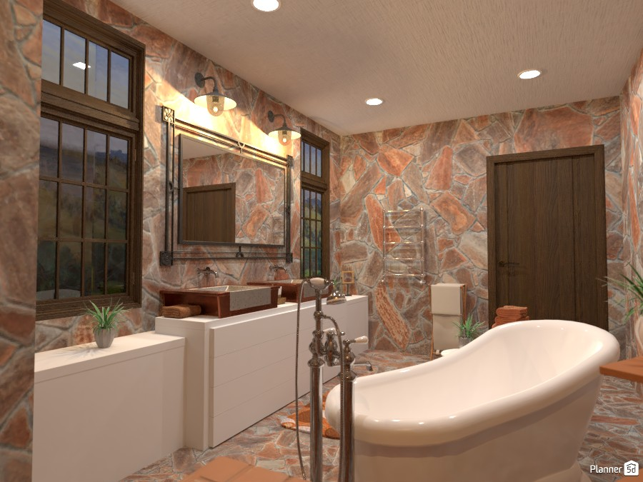 Country interior style: bathroom 84306 by Gabes image