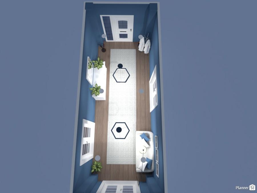 Blue hallway 87138 by Doggy image