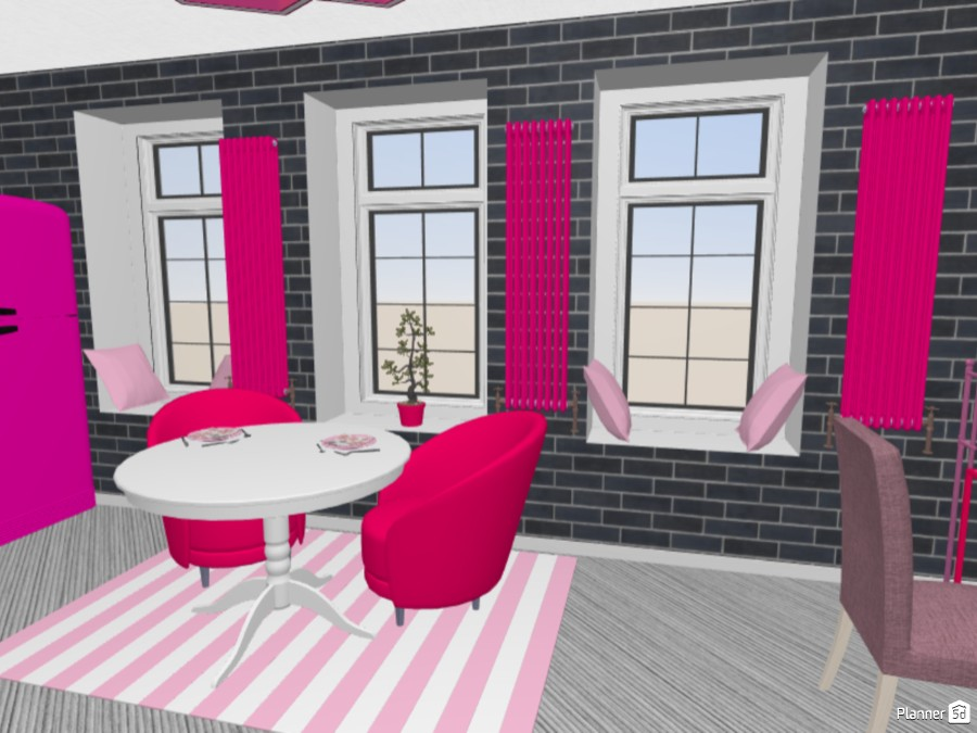 Small apartment in grey and pink 83300 by Maryna image