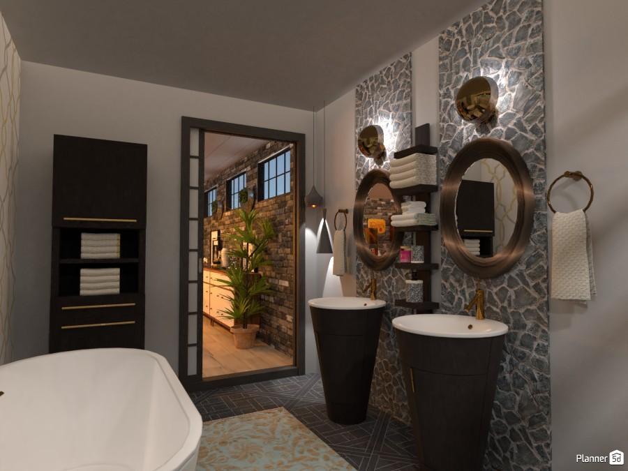 Neo-Industrial loft: Bath #1 3839099 by Micaela Maccaferri image