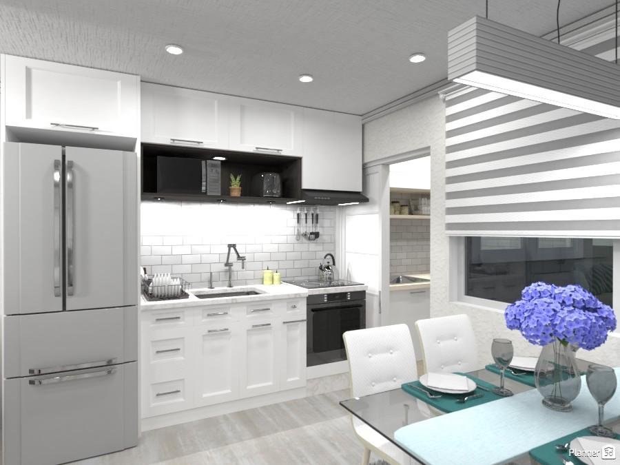 Cozinha clássica preta e branca. 3492878 by Nanda image