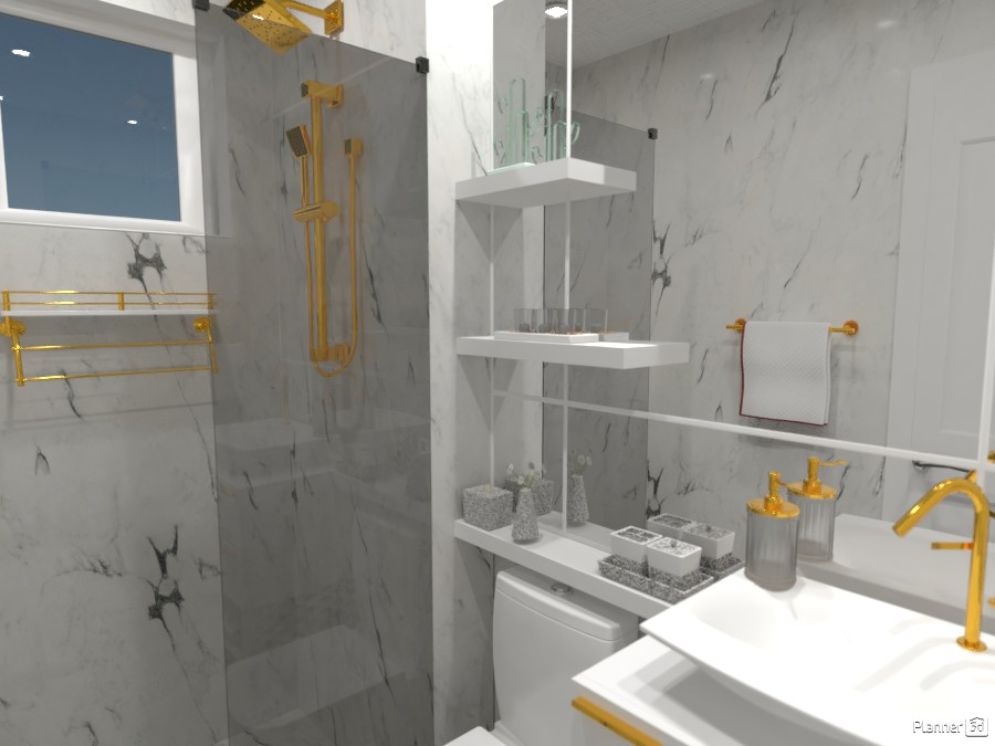 Banheiro pequeno e luxuoso. 3492925 by Nanda image