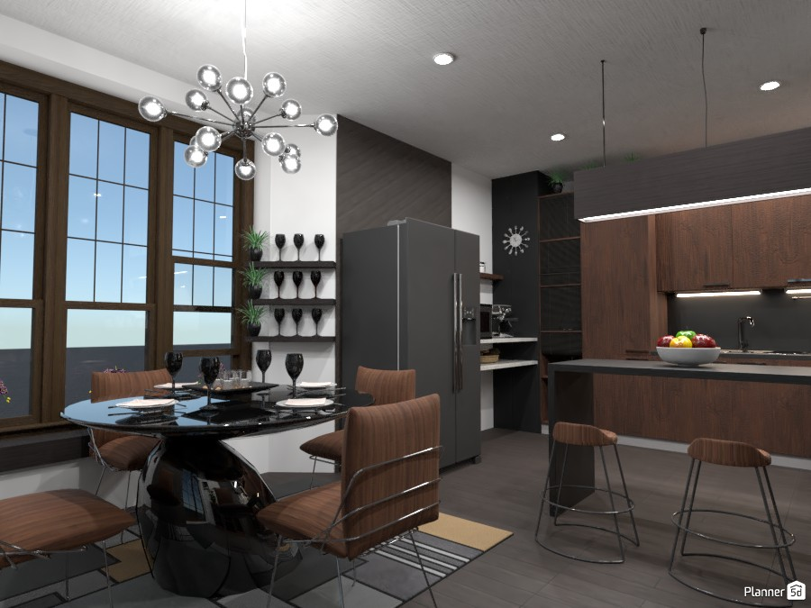 All black!: Design battle contest .... the kitchen and dining room 4363449 by Gabes image