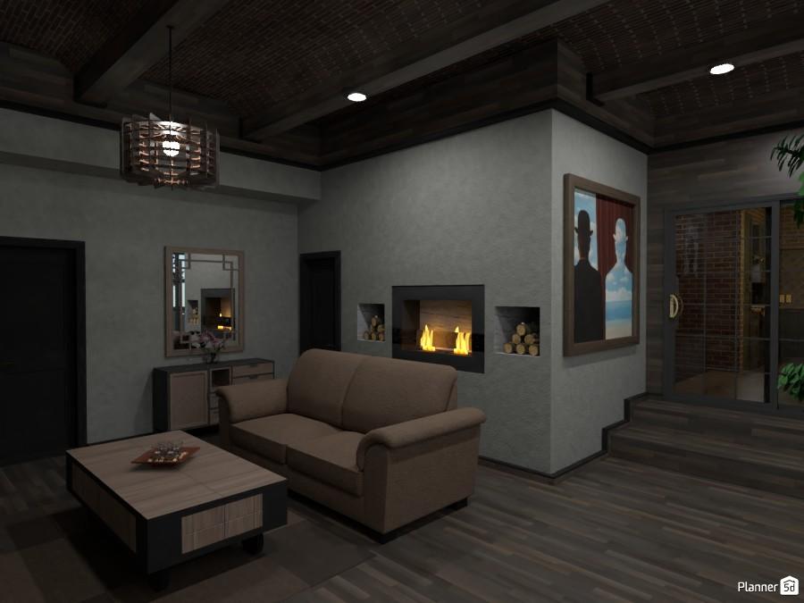 kitchen+livingroom+hallway ( based on farm architecture ) 87263 by LØU DERØИNE image