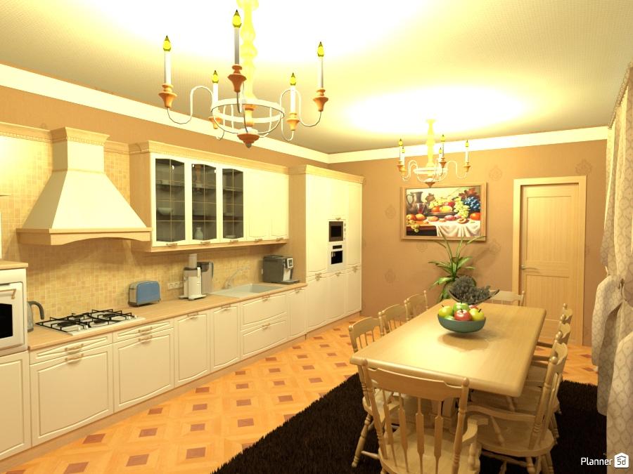 кухня - столовая 1381360 by Elizaveta Xamdi image
