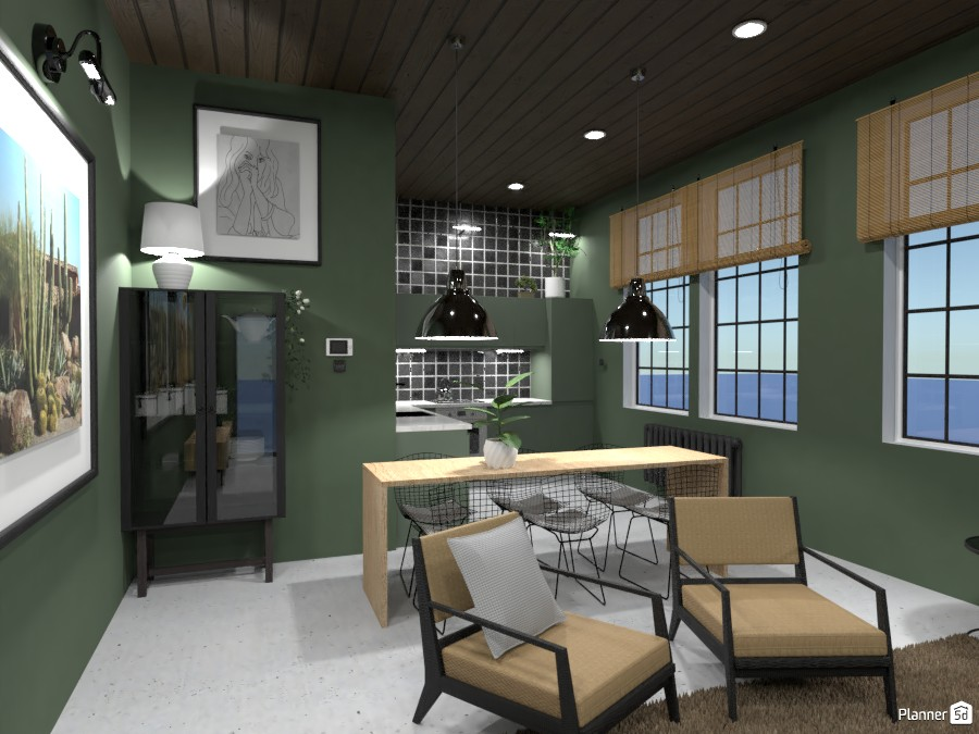 Loft Kitchen and Living Room - Design Battle 4145091 by Ana G image