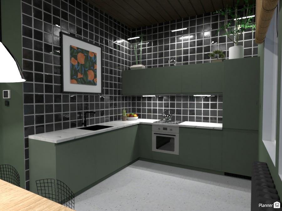 Loft Kitchen and Living Room - Design Battle 4145102 by Ana G image