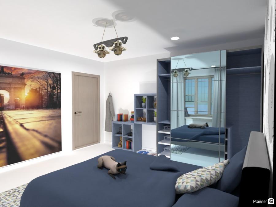 Bedroom in blue 85639 by Enrico e Cinzia image