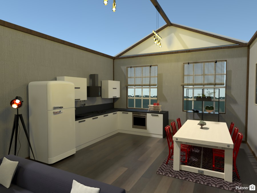 Kitchen & Living Room Interior 3564058 by Megan image