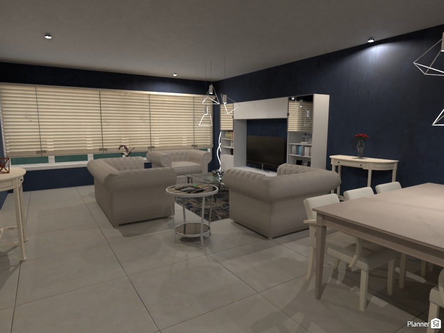 Navy Living Room 3665618 by Megan image