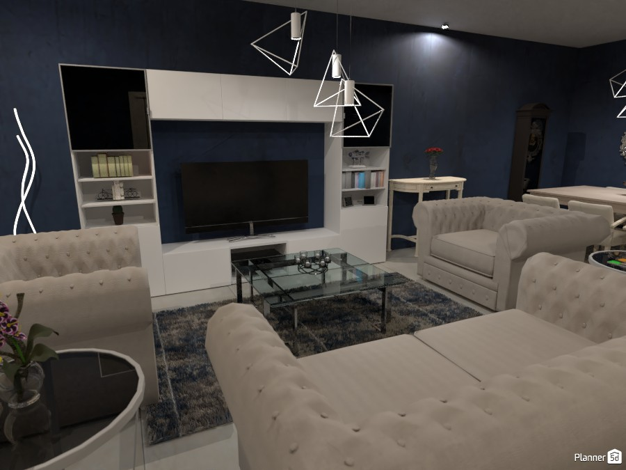 Navy Living Room 3665621 by Megan image