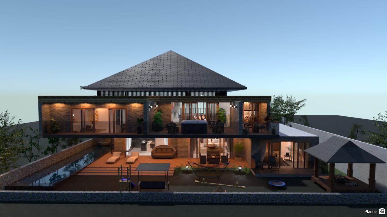 Modern Balinese House Free Online Design 3d Floor Plans By Planner 5d