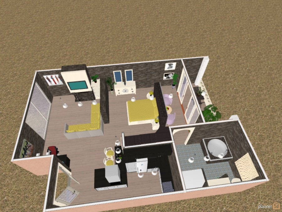 Modern Apartment Plan 53146 by LeeLow image
