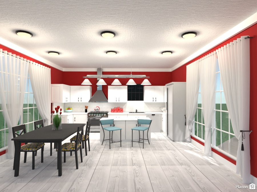 red n white kitchen 1953211 by Joy Suiter image