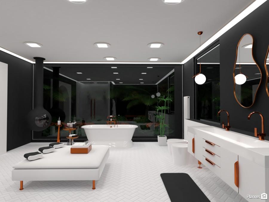 bronze white and black contemporary bathroom 4441291 by Yasemin Seray Ençetin image