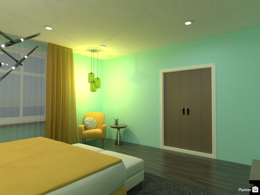 Blue and Yellow Bedroom 4625675 by Doggy image