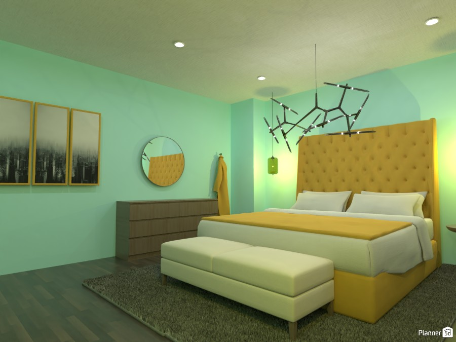 Blue and Yellow Bedroom 4625695 by Doggy image