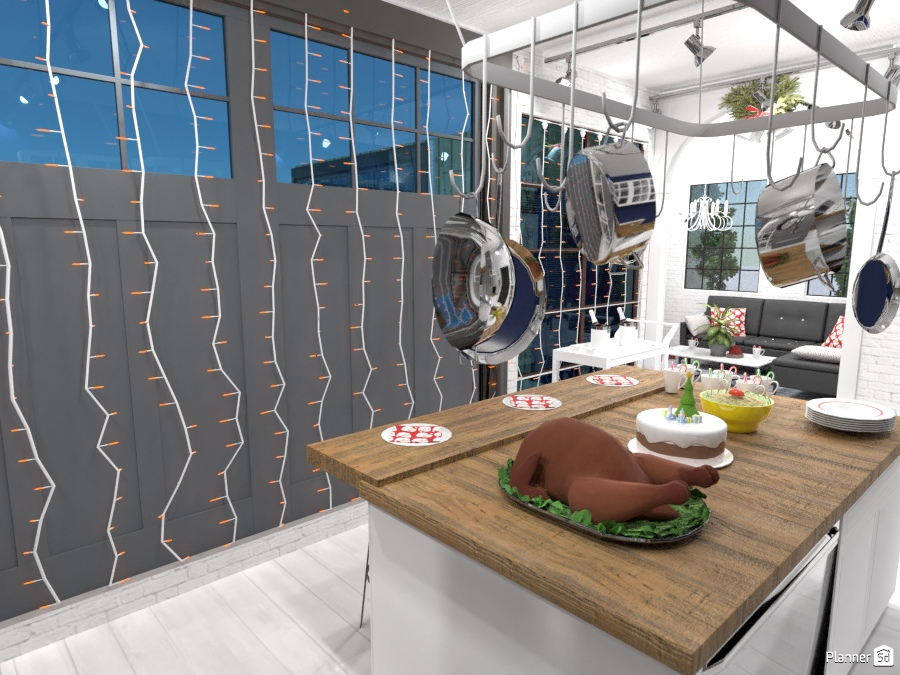 Modern home decorated for X-mas 2334560 by Jerusha Nolt image